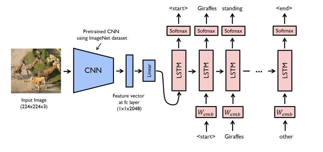 PyTorch 中使用深度学习(CNN和LSTM)的自动图像描述