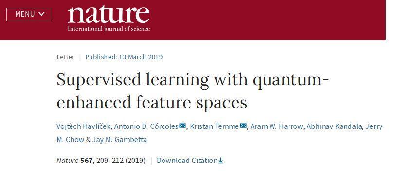 """Nature:量子计算机成功实现监督式机器学习,""""杀手级应用""""就要来了?"""