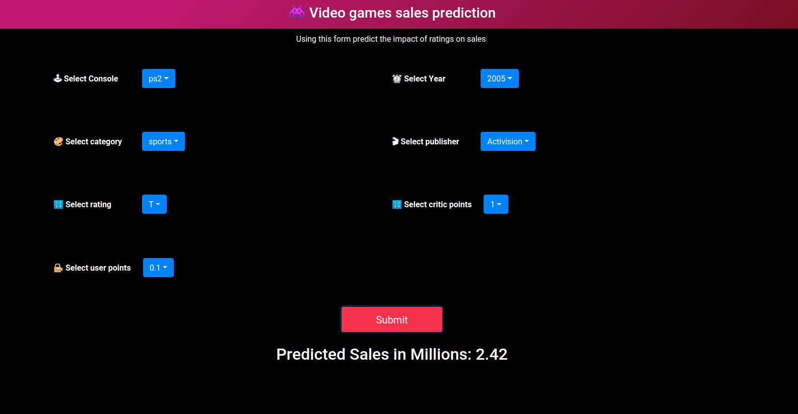 使用机器学习数据集构建销售预测Web应用程序