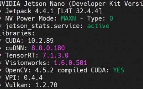 捷信纳米重新編譯OpenCV+CUDA