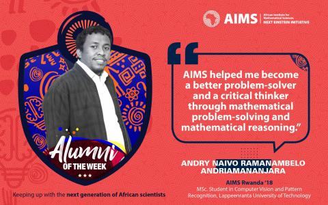 #Alumofthe Week-Anry Navo Ramanambelo Andriamanjara,目标是卢旺达'18