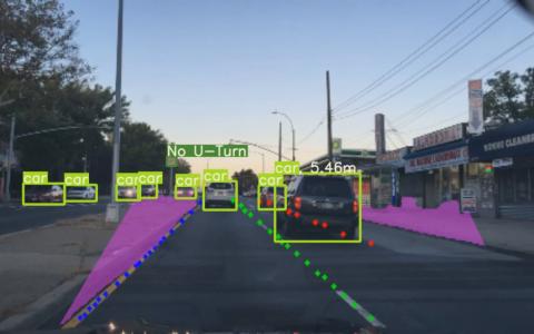 基于深度学习的自主车辆环境感知,包括直线检测、标志…